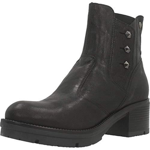 NERO GIARDINI damesschoenen enkellaarsjes A909720D / 100 maat 35 Zwart
