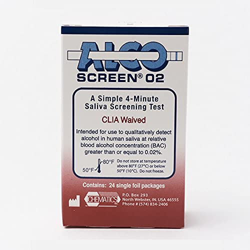 AlcoScreen Saliva Alcohol Screen Test (Pack of 24)