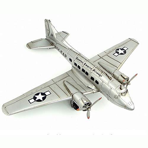 Flugzeug-Modell-Retro Eisen Dekoration, WWII US C-47 Transportflugzeuge, Old Crafts Ornamente Geschenke