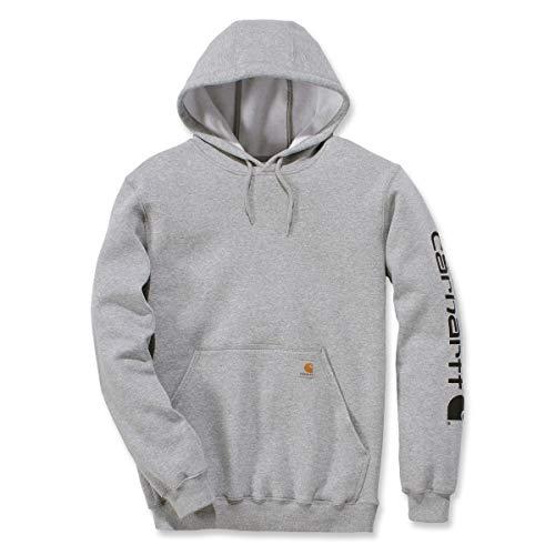Carhartt . K288.E20.S005 Herren Sweatshirt, mittelschwer, mit Logo, Grau / Schwarz, Größe M