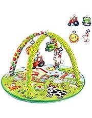 Babyjem Oyuncaklı Oyun Minderi Çiftlik Yuvarlak 506