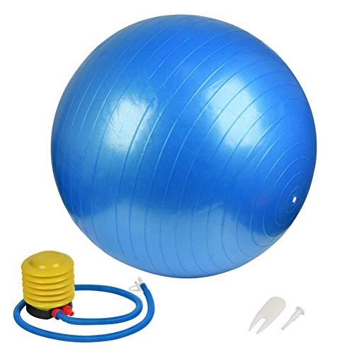 TIMESETL Pelota de Pilates, Fitness, Yoga, Embarazo, Fitball para Ejercicios Gimnasia Pelota de Ejercicio 65CM con Bomba de Aire