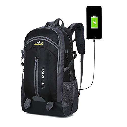 Zaino impermeabile Borsa da trekking Zaino da arrampicata da ciclismo Zaino da viaggio Borse da esterno Carica USB Borsa sportiva antifurto 40L
