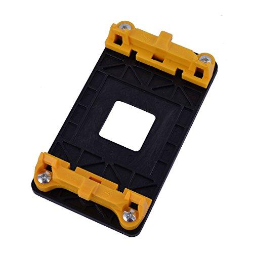 sourcing map Plástico AMD Ventilador Soporte del Soporte Base Amarilla para AM2 AM2 + AM3 AM3 + FM1 FM2 Enchufe