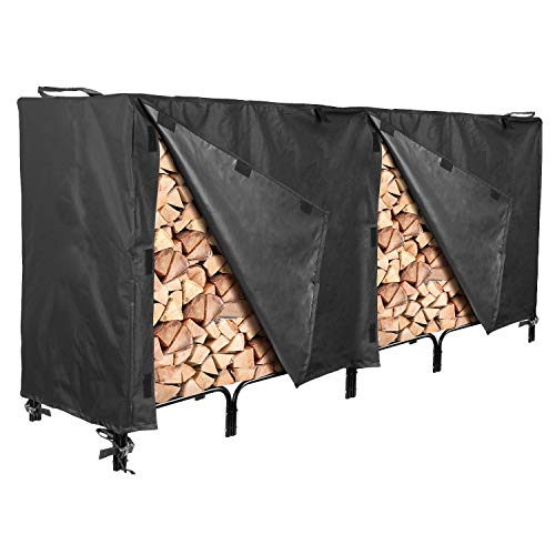 Buy Cheap North East Harbor Outdoor Firewood Log Rack Cover - 96 L x 24 W x 42 H - UV Protected, ...