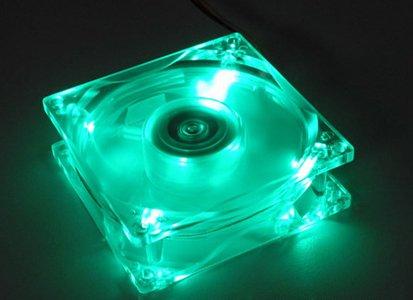 Cooler Master Neon LED (TLF-R82) - Ventilador de PC (25 dB, Azul, 0,15 A, 75 g, 80 x 80 x 25 mm, 1.8 W)