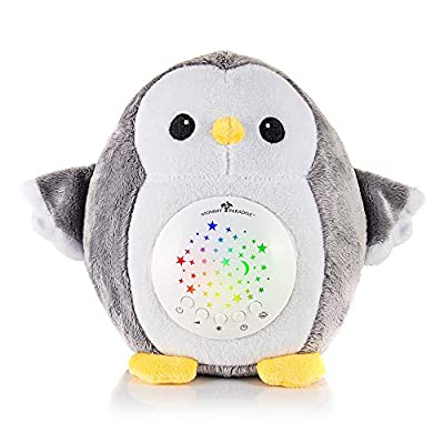 Mommy Paradise Baby Toys White Noise Sound Machine & Cry Sensor - Owl Baby Soother Sleeping & Calming Aid Night Light Star Projector - Portable Lullaby & Shusher, Baby Boy & Baby Girl Shower Gift by Mommy Paradise