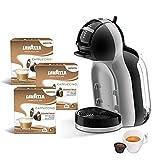 De Longhi EDG155.BG Mini Me - Máquina de café expreso para cápsulas compatibles con Nescafè Dolce Gusto + 48 cápsulas Lavazza Cappuccino