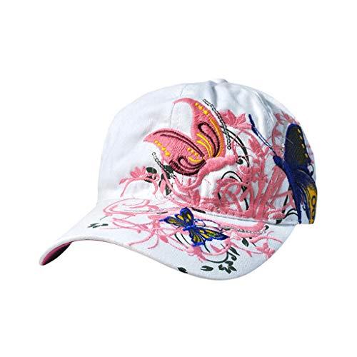 Vobery Frauen Damen Schmetterling Baseball Cap Hut Sonnenhüte