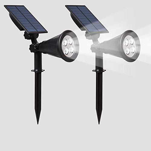 Solar spotlights,Tuinverlichting met stekker, wandlampen voor buiten, waterdichte LED-landschapsschijnwerpers, gazonverlichting op zonne-energie voor thuis-4LED Siamees (twee stuks) wit licht