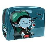 Kit de Maquillaje Niño murciélago de Dibujos Animados Neceser Makeup Bolso de Cosméticos Portable Organizador Maletín para Maquillaje Maleta de Makeup Profesional 18.5x7.5x13cm