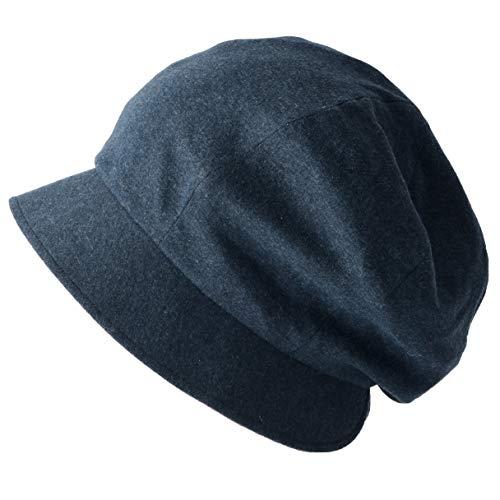 Casualbox Charm Frauen Bio-Baumwolle Sonnenhut Mütze - Damen Hut Wendbar Japanisch Design Lila & Navy