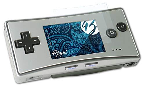 Bruni Película Protectora para Nintendo Gameboy Micro Protector Película, claro Lámina Protectora (2X)