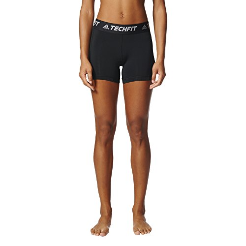 adidas Women's Soccer Techfit Base Short Tights, Black, XX-Small