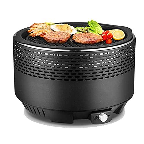 FYHH-JZHY Barbecue Portatile A Carbone Senza Fumo con Ventola per Un Calore Rapido da Tavolo...