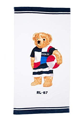 Ralph Lauren Polo Herren Strandtuch Blue Bear
