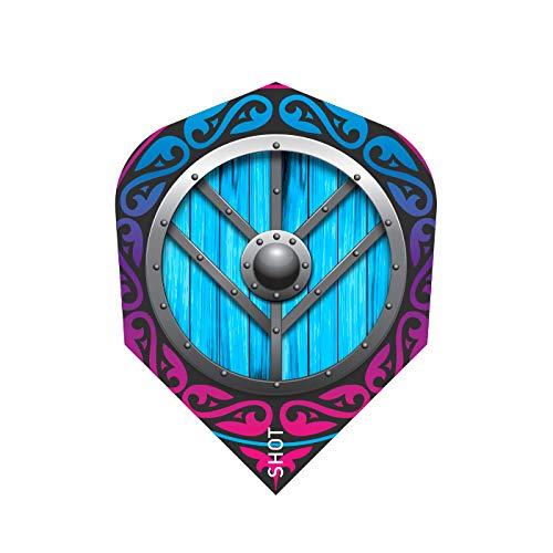 5 x Sets Shot! Viking Shield-Maiden Dartpfeile Flights, klein, Standardform