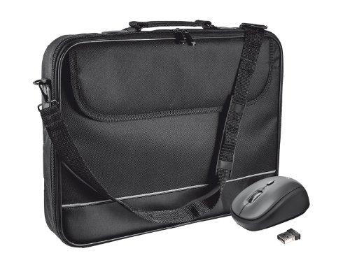 Trust 19996 Draagtas voor 15-inch laptops met draadloze muis, laptoptas - zwart