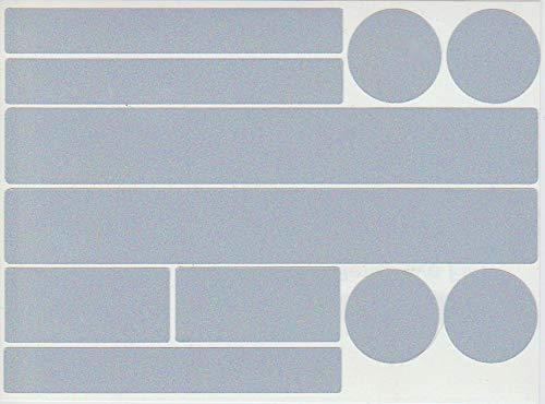 Set Reflektor Aufkleber, 22 Stück Reflexsticker, reflektierende Aufkleber, Reflektoren, selbstklebend (Weiß)