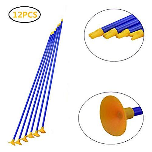 Yousir 12 piezas arco tiro con ventosa flecha para niños disparar arcos juego de seguridad de goma para adolescentes entrenamiento de tiro