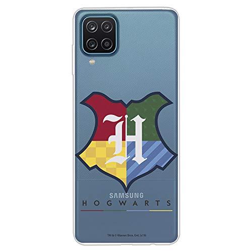 Funda para Samsung Galaxy A12 Oficial de Harry Potter Hogwarts Escudo. Protege tu móvil con la Carcasa para Samsung de Silicona Oficial de Harry Potter.