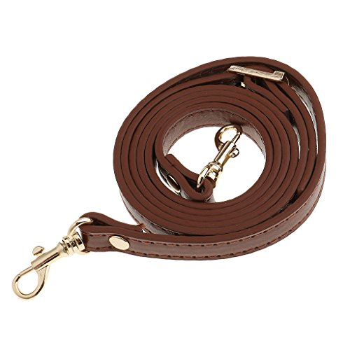 Sharplace Crossbody Bag Strap, Adjustable Leather Bag Strap with Metal Swivel Lobster Clasp, Replacement for Women Handbag Purse Crossbody Bag (120cm Long/1.2cm Wide) - Brown