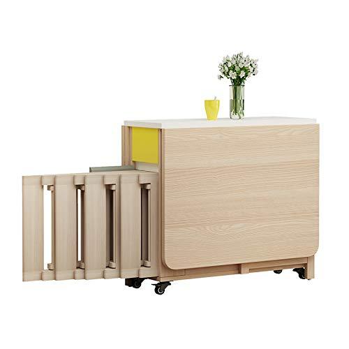 YDYG Conjunto de Mesa de Comedor compactable Mesa Plegable de Madera Maciza Pequeño apartamento Instalación Gratuita Instalación Lateral Mesa Plegable Mesa de Pared de Mesa