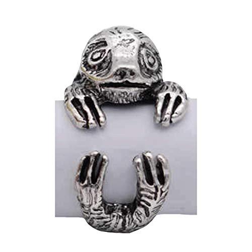 Sloth Ring. Animal Jewellery Adjustable, In an Organza Bag, Men/Women/Teenager