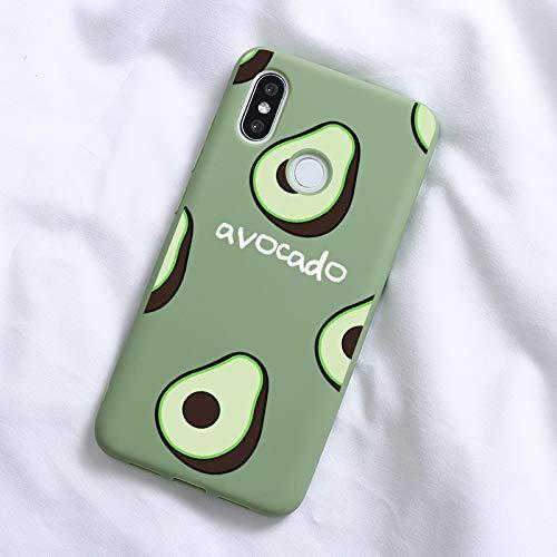 XMCJ Cactus Avocado - Carcasa de TPU suave para Xiaomi Redmi Mi A3 Lite Note 8 8T 4X 5A 5 Plus 6 6A 7 7A 8 8A K20 Pro A1 A2 5X 6X (color: Sx2nyg, material: para Redmi Note 6 Pro)
