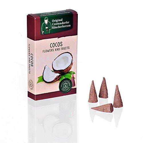 Crottendorfer Räucherkerzen Flower und Fruits - Duft: Cocos - Größe: M - 24 Stück - Made in Germany