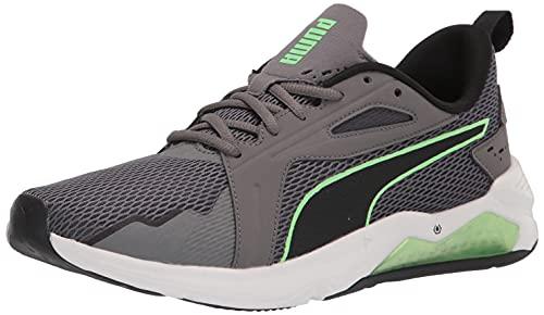 PUMA Men's LQDCELL Method Run/Train Cross Trainer, Castlerock Black-Elektro Green, 12