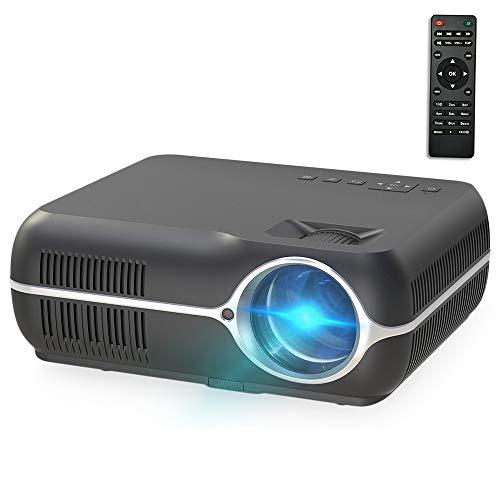 Proyector Inteligente con Control Remoto DH-A10 Pantalla LCD de 5,8 Pulgadas 4200 lúmenes 1280 x 800p HD, Android 6.0 OS, Soporte WiFi, Bluetooth, HDMIX2, USBX2, VGA, AV IN/RCA, RJ45, LAN, Liqingsh