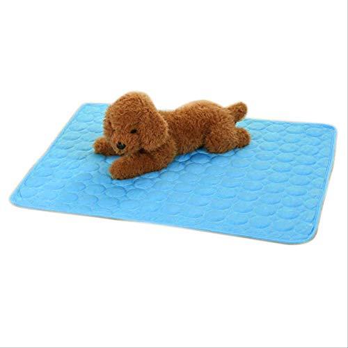 Almohadilla para Dormir Refrescante para Mascotas, Suave Y Cómoda Alfombra para Dormir De Verano para Perros, Gatos, Cama para Gatos, Accesorios para Perros Blues