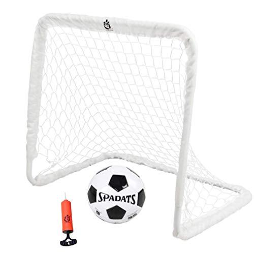 HONEI サッカーゴール サッカーボール 子供 サッカー 練習 室内 屋外用 組み立て 簡易ゴール 金属フレーム 空気入れ ネット付き