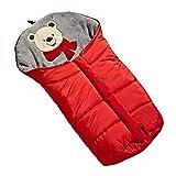 Kinderwagen Fußsack, Kinderwagen Schlafsack,Universal Multifunktions Winter Winddicht Warme Kinderwagen Kinderwagen Buggys Schlafsack für Neugeborenes Baby Kleinkind Rot