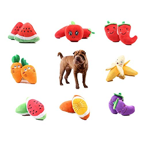takestop® Juego Peluche Fruta Suave Juguete Perros Perros
