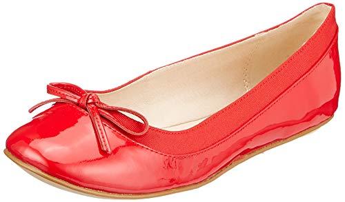 Buffalo Damen ANNELIE Geschlossene Ballerinas, Rot (Red 001), 39 EU