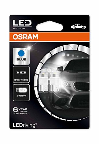 Osram 2850BL-02B LEDriving LED Retrofit W5W per Illuminazione Interna, Ice Blue 6800K, Blister Doppio