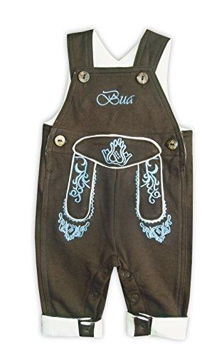 Mogo.cc, BLH Babylederhose Bua, VISO LANG, 74/80, 6-12 Mon. M, Stick blau NEU