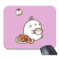 ロイヤルモラン漫画かわいいウサギマウスパッドトレンディなオフィスデスクトップコンピューターアクセサリー9 X 7.5インチ