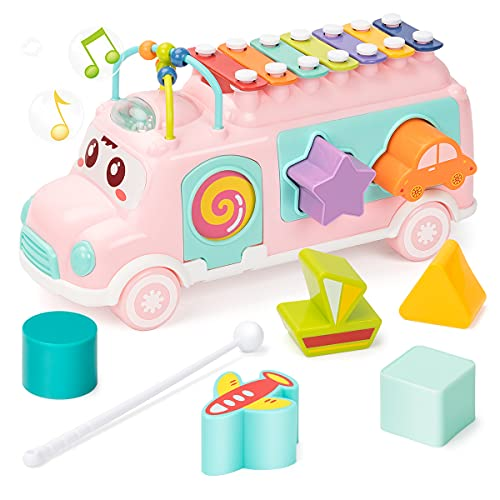 UNIH Baby Toy 12-18 Months, Music Bus...