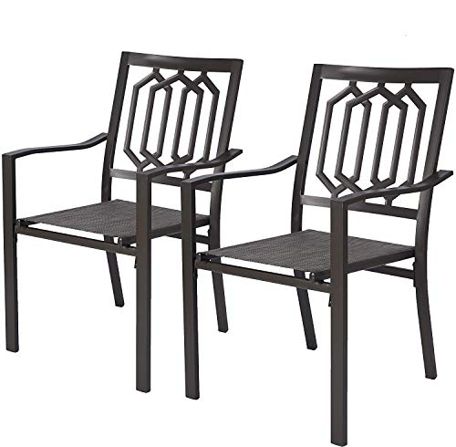 Kozyard Villa Outdoor Patio Dining Table Sets (Patio Steel Textilence Chair)