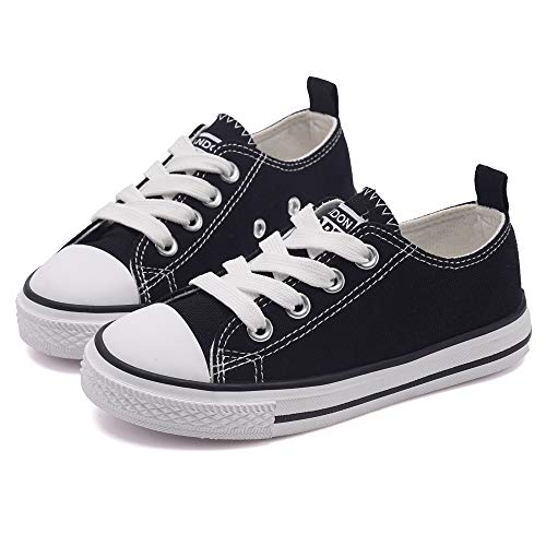 Black Canvas Shoes for Girls
