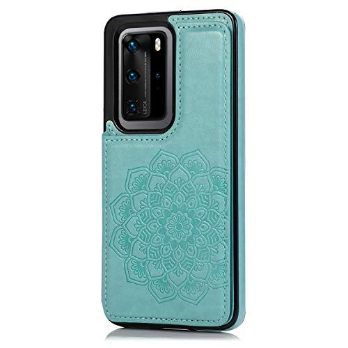 Oihxse Funda para Compatible con Samsung Galaxy A60/M40 de Piel Sintética Cuero PU Billetera con Soporte Plegable y Tarjetero Protección Cubierta Cartera Soporte Function, Flores de Datura