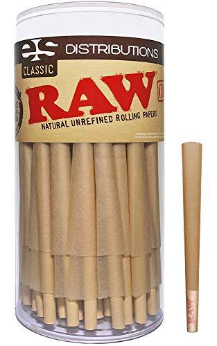 Raw conos clásico 98 especial | paquete de 100 | natural pre rolled rolling paper con consejos y palillos embalar incluido
