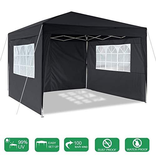 LYXCM Pop Up Canopy Tent, Gazebo Pesado 10 X 10 Pies Impermeable Cenador Portátil De Negocios Instantáneo con 4 Secciones Laterales Refugio para Eventos para Bodas De Jardín