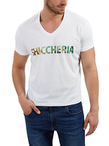 Chiccheria Brand T-Shirt Herren | Weiß | Designed in California | 100% Baumwolle | Bekannt aus GQ (L)