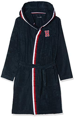 Tommy Hilfiger Bathrobe Albornoz, Rosa (Navy Blazer 416), 122 (Talla del Fabricante: Medium) para Niños
