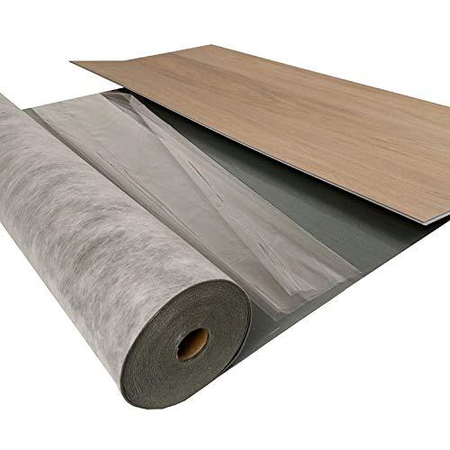 uficell® Voll-Vinyl Trittschalldämmung mit'VinoSoundFix' [10 m²] - Stärke: 1,5 mm - Dichte ca. 1000 kg/m³ - Selbsthaftende Tritt- und Gehschalldämmung für 4-5 mm'Click' Vinyl