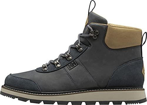 Helly Hansen Mens Montesano Boot V2 Leather Winter Boot, 597 Navy/Camel/Cream, 12